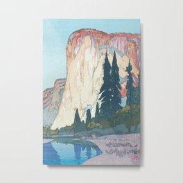 Hiroshi Yoshida, El Capitan Yosemite California United States Of America - Vintage Japanese Woodblock Print Art Metal Print