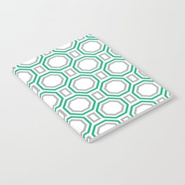 Polygonal pattern - Turquoise green and Gray Notebook
