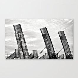 Old stadion in Lithuania Canvas Print