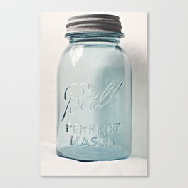 Vintage Mason Jar Canvas Print