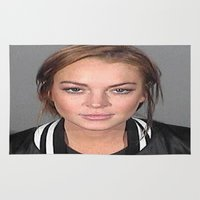 lindsay lohan Area & Throw Rugs featuring Lindsay Lohan by Neon Monsters