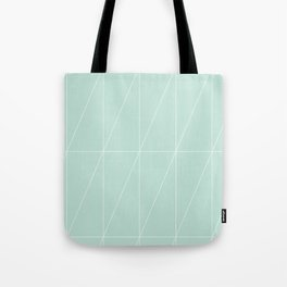 Mint Triangles by Friztin Tote Bag
