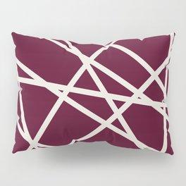 Maroon Line Pillow Sham