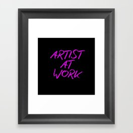 Artist at Work (pink) Framed Art Print
