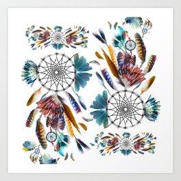 Dreamcatcher boho Art Print