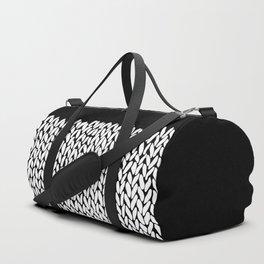 Half Knit  Black Duffle Bag