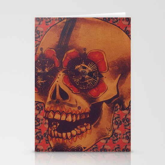 Skulled Stationery Cards
