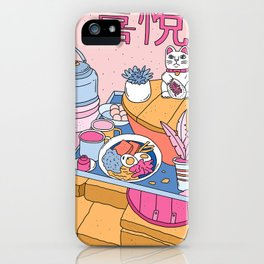 MANEKI NEKO STREET FOOD iPhone Case