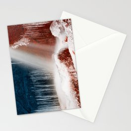 Winter Harmony Stream - Red White & Blue Stationery Cards