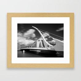 Samuel Beckett Bridge - Ireland  (RR59) Framed Art Print