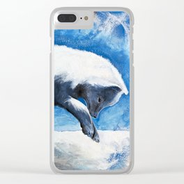 Animal - Antoine the Artic Fox - by LiliFlore Clear iPhone Case