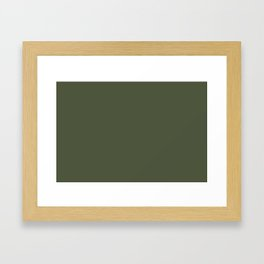 Pratt and Lambert 2019 Sierra Night (Dark Green) 18-17 Solid Color Framed Art Print