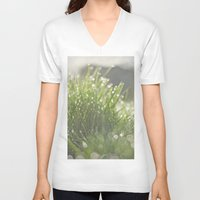 grass V-neck T-shirts featuring Grass by Pure Nature Photos