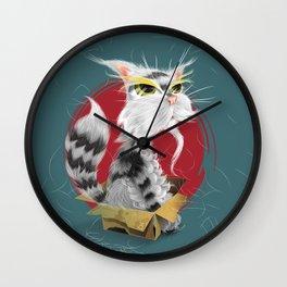 PAW MEI - The Wise Cat Wall Clock