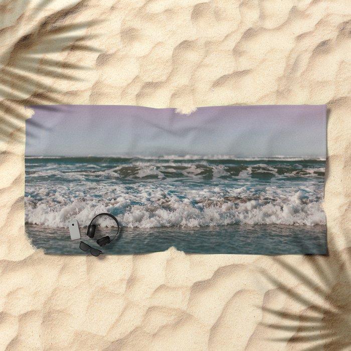 Ocean Crash Beach Towel