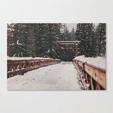 Nisqually River Suspension Bridge Canvas Print