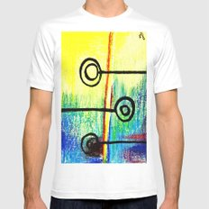 Candy Land MEDIUM White Mens Fitted Tee