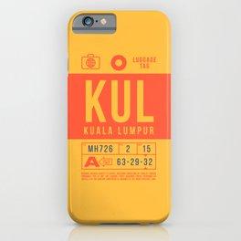 Baggage Tag B - KUL Kuala Lumpur Malaysia iPhone Case