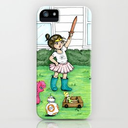 A Girl And Her Army iPhone Case