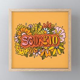 Scorpio Flowers Framed Mini Art Print