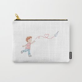 Paper Plane + Love Carry-All Pouch