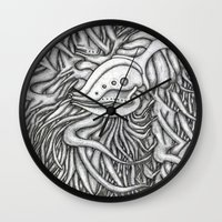 evolution Wall Clocks featuring Evolution  by OKAINA IMAGE