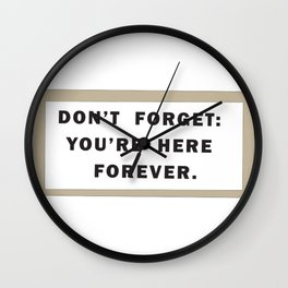Dont't forget Wall Clock