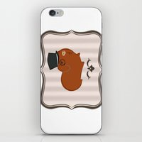 guinea pig iPhone & iPod Skins featuring Mr Guinea Pig by Jo Sharp