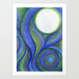 COOL Color Blend Art Print