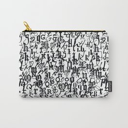 alphabet - letters / font collection - black and white Carry-All Pouch