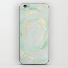 abstract mint and gold iPhone & iPod Skin