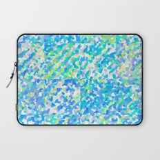 Blue Green Delight (Squares) Laptop Sleeve