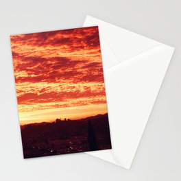 Sunrise over Los Angeles Stationery Cards