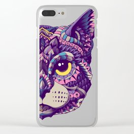 Cat Head (Color Version) Clear iPhone Case