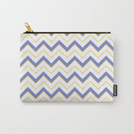 Chevron | Blue, Yellow  White Carry-All Pouch