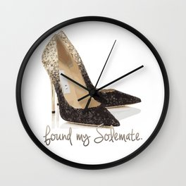 Found My Solemate Wall Clock