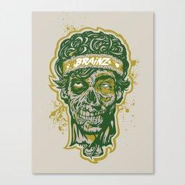 Brainz Zombie Print Canvas Print