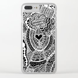 Love Doodle Clear iPhone Case