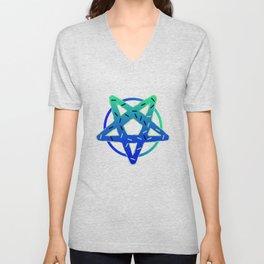 Gothic Donut pentagram Satan funny gift Unisex V-Neck