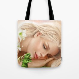 Wake up! Dragon Baby & Elf Tote Bag