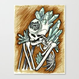 Geode skeleton covered in crystals Canvas Print