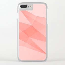 Pantone Living Coral Color of the Year 2019 on Abstract Geometric Shape Pattern Clear iPhone Case