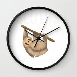 Sloths Are My Spirit Animal Wall Clock