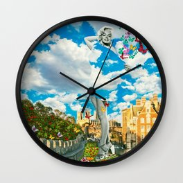 Traveling in the Clouds Wall Clock