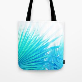 Solar Summer Fan Palms - Blue and Aqua Tote Bag
