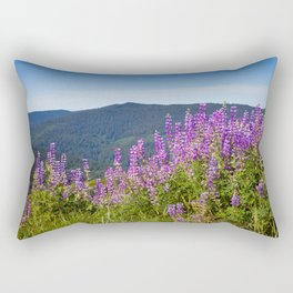 The Lupines in the Hills Rectangular Pillow