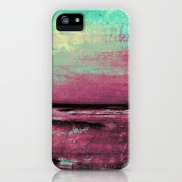 Green Color Patches iPhone Case