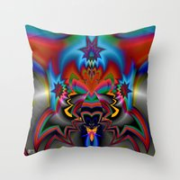 spawn Throw Pillows featuring Spawn by Jim Pavelle