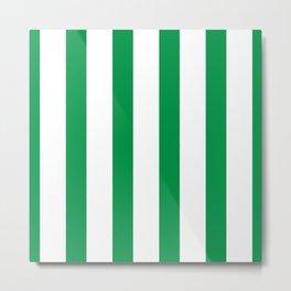 Kelly Green Stripes Metal Print