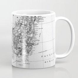 Vintage Map of Japan (1892) BW Coffee Mug